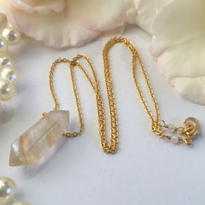 Host Pick! Citrine Double Point Crystal Necklace